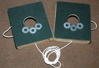 Carpeted Washers Toss Game - One Hole Version