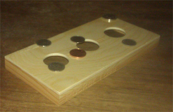Pocket Toss Washers Toss Game - Table Top Washers Game